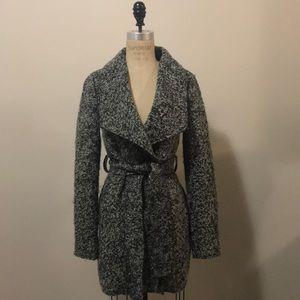 Lush Heather Gray Wool Blend Jacket Coat